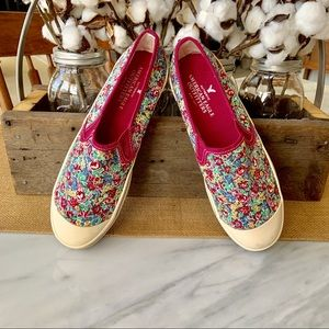 American Eagle Outfitters floral canvas sneakers